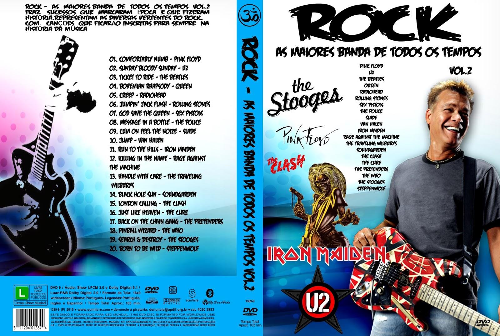 Download Rock As Maiores Banda de Todos Os Tempos Vol.2 DVD-R rock as maiores banda de todos os tempos vol