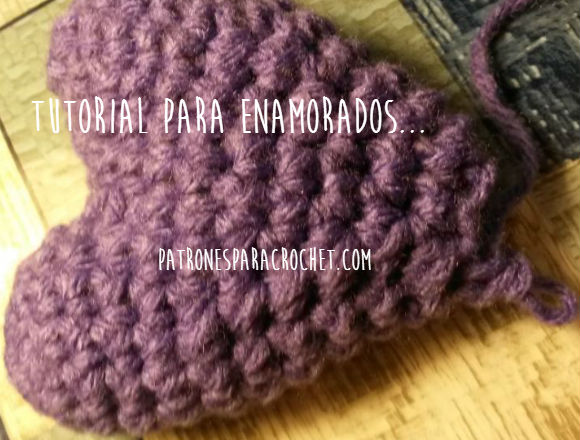 tutorial de corazon tejido al crochet
