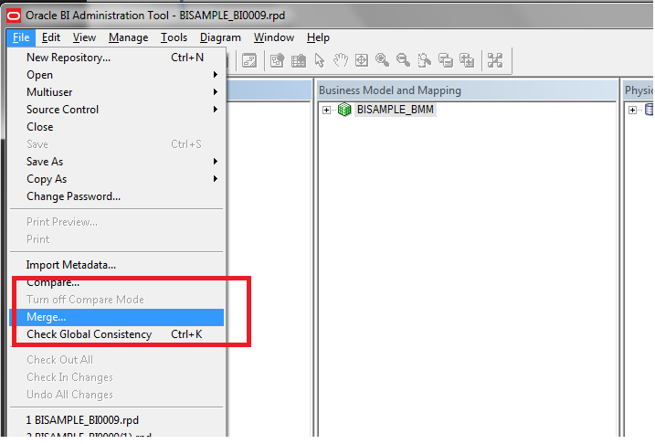 Patching obiee 11g rpd