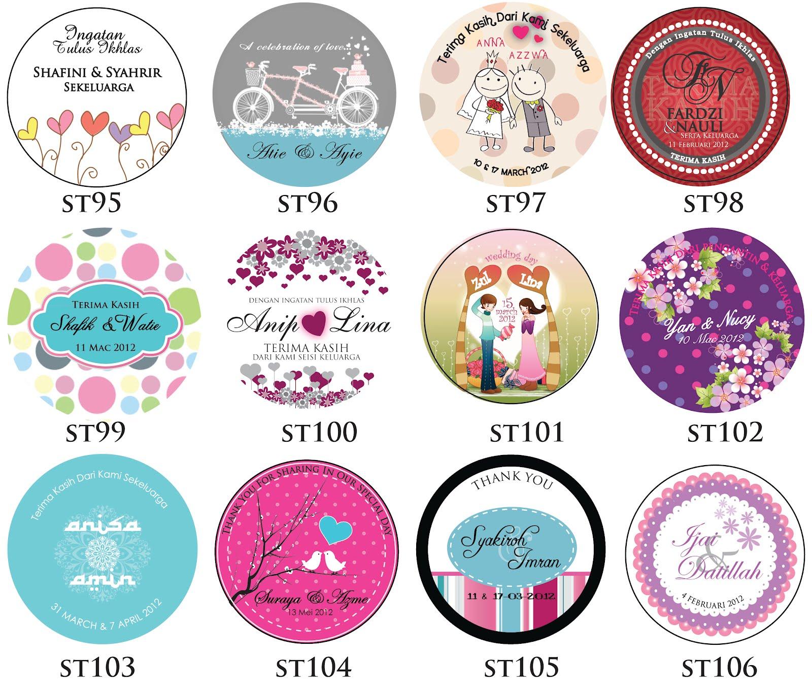 New Sticker 2012 Ceria Kad Kahwin