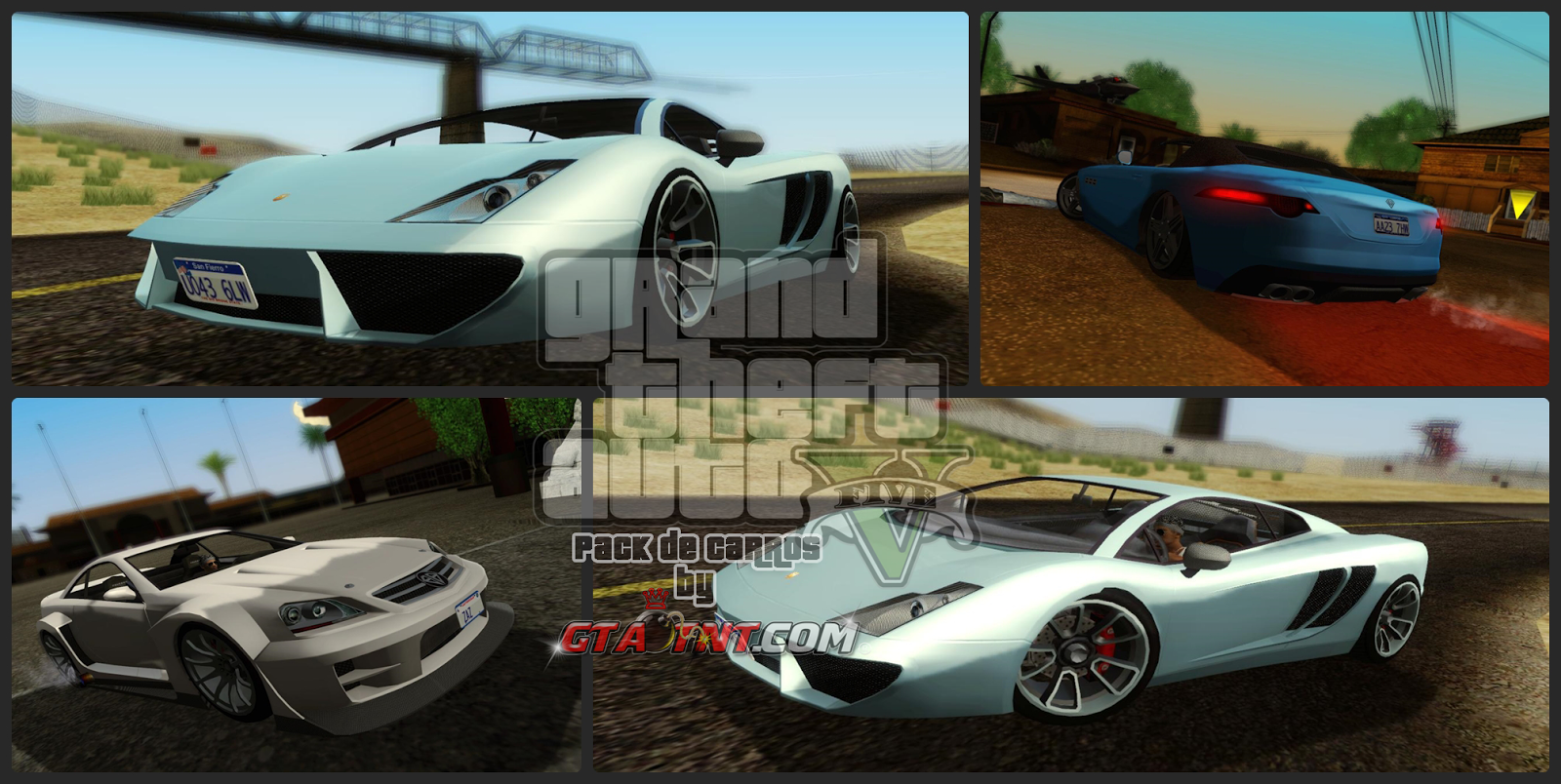 Super Pack de carros do GTA V (Mais de 55 carros) para GTA San Andreas
