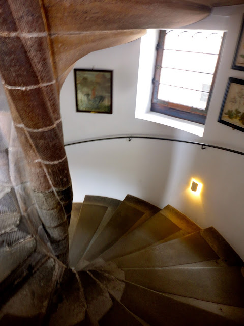 Spiral staircase inside Rosenborg Castle, Copenhagen, Denmark