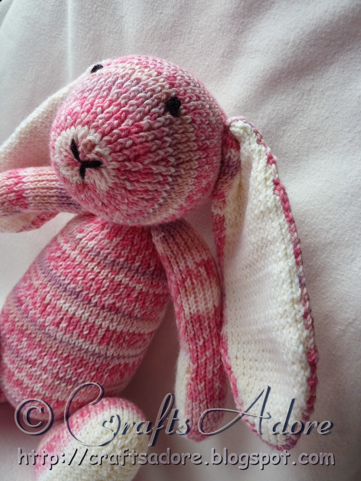 Adorable Knitted Sirdar Snuggly Bunny Soft Toy