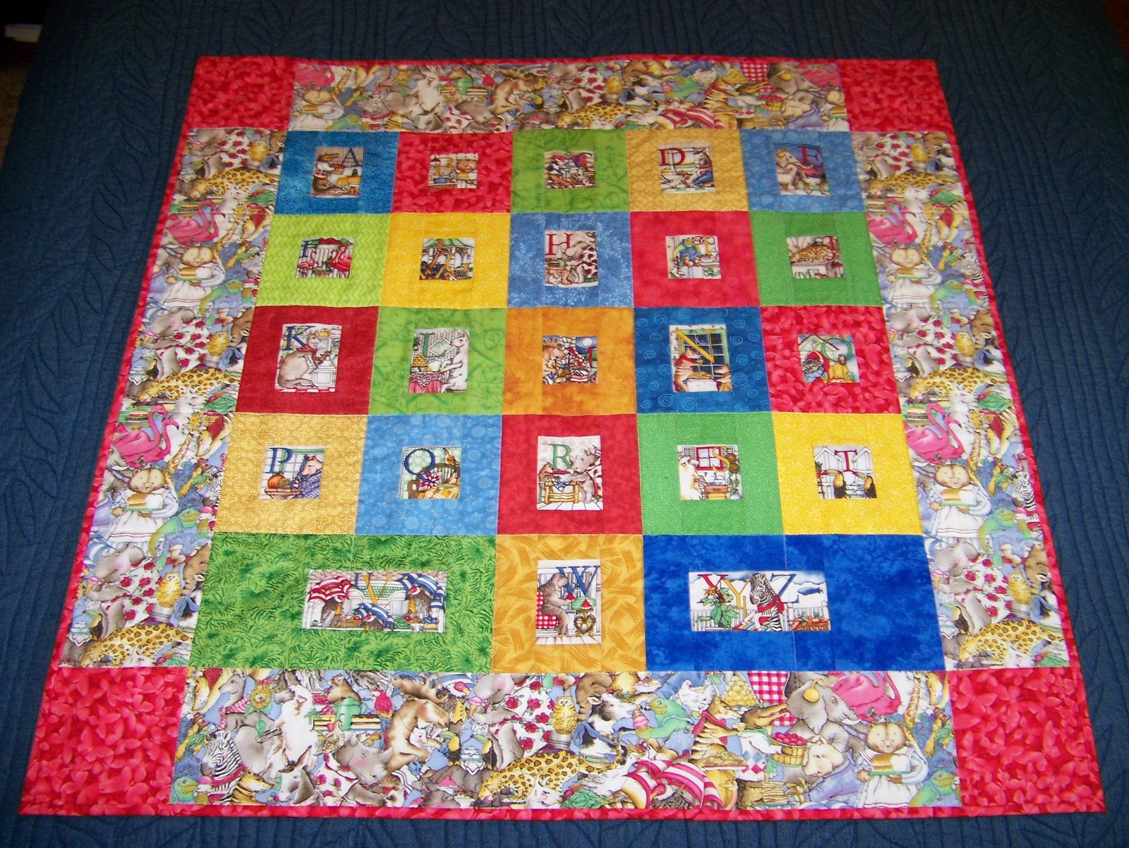 The Momoo Hungry Animal Alphabet Quilt