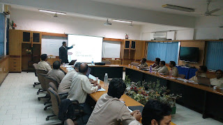 Mr. Narender Sharma while delivering training