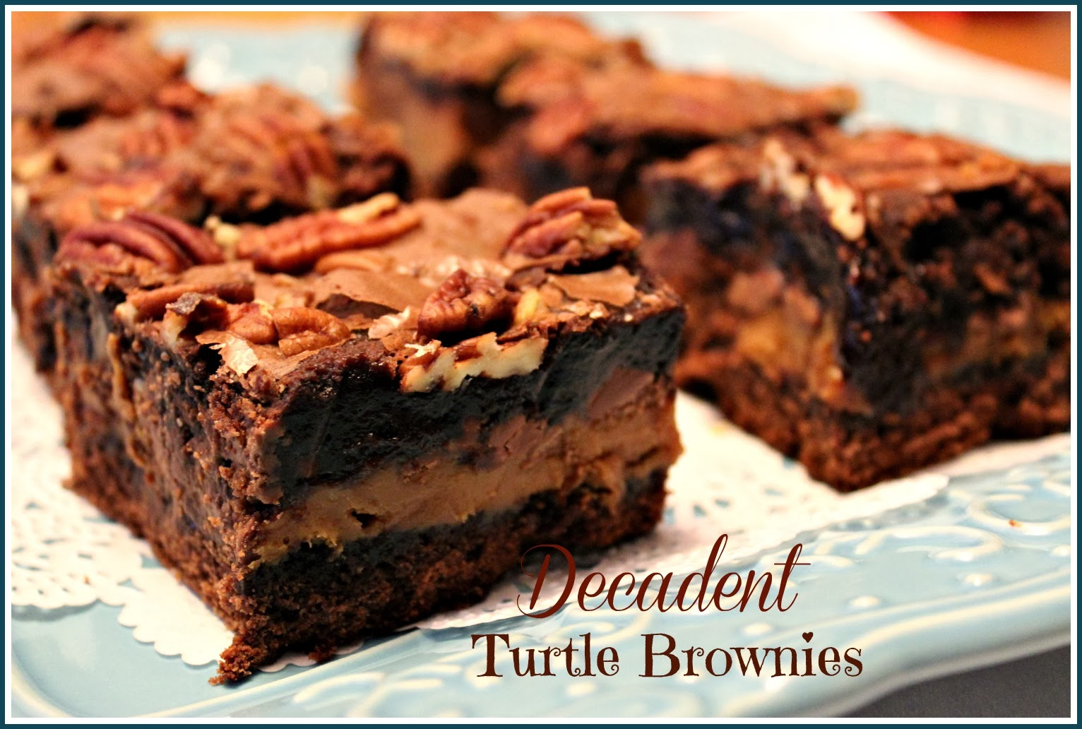 Sweet Tea and Cornbread: Decadent Turtle Brownies!
