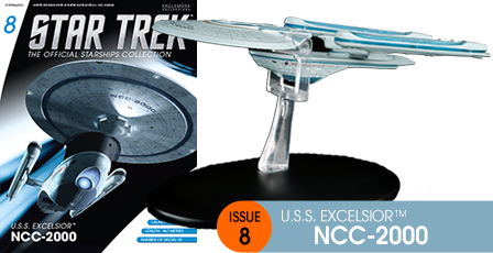 Eaglemoss Collections Eaglemoss+Star+Trek+The+Official+Starship+Collection+%238+USS+Excelsior+website