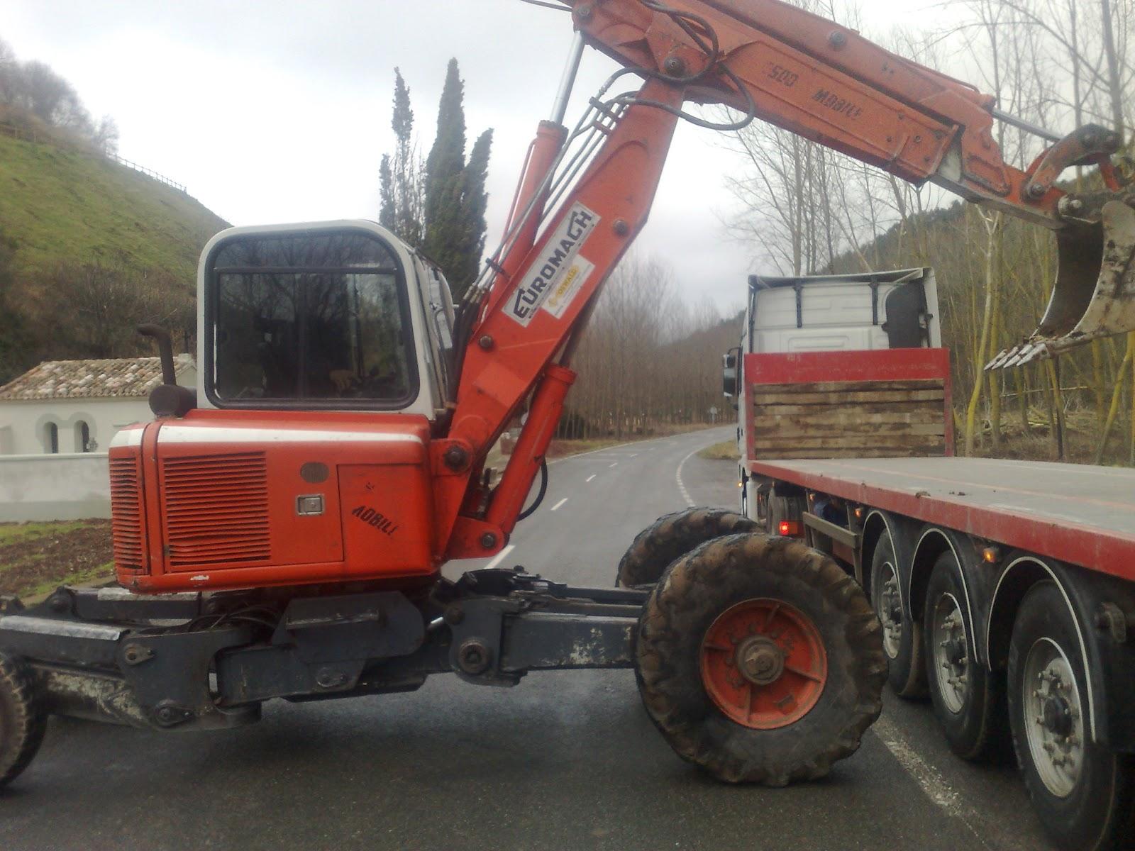 excavadora rueda usada: