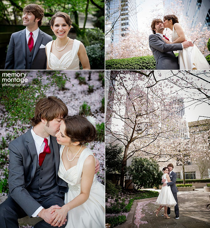 Fremont Abbey Seattle WA wedding photography springtime bride and groom