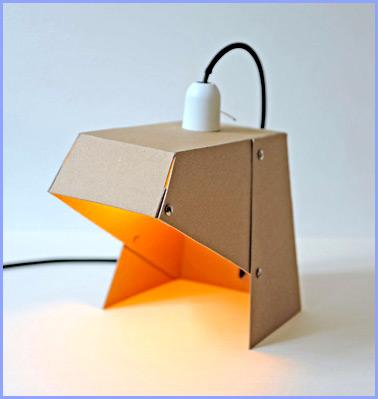 Как сделать настольную лампу из картона (мастер-класс)