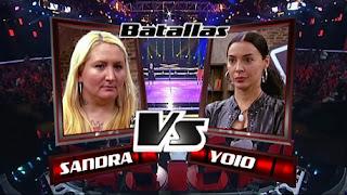 Yoio Cuesta y Sandra Rodrigo-Batallas La Voz