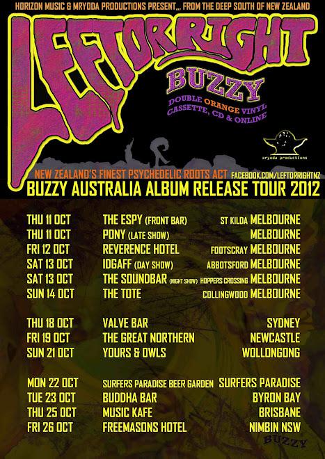 Left Or Right: Buzzy Australia Album Release Tour 2012