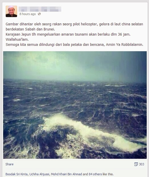 Agensi Meteorologi Jepun Amaran 36 Jam Tsunami?!