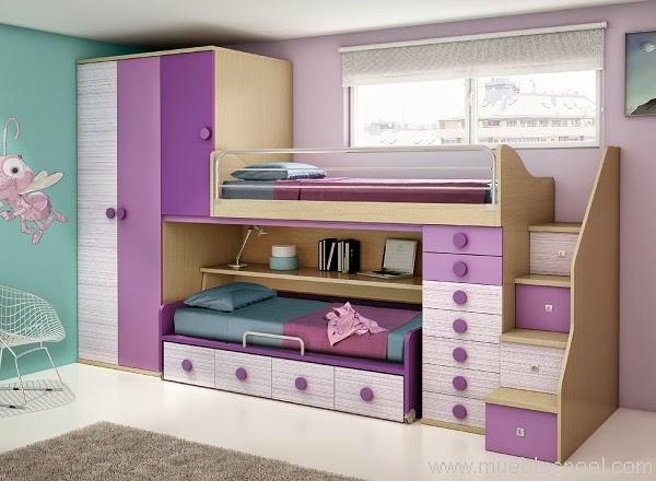 Dormitorios juveniles a medida literas con mesa - Muebles shena literas ...