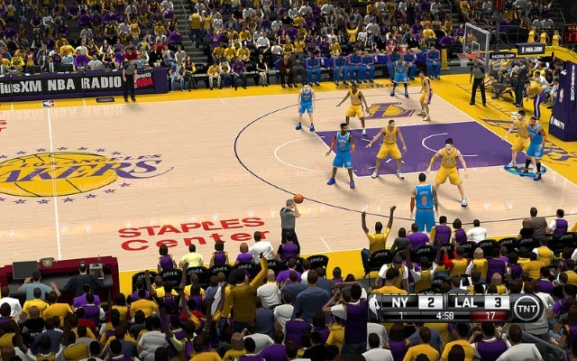Lakers HD Court | NBA 2K14 PC Mod