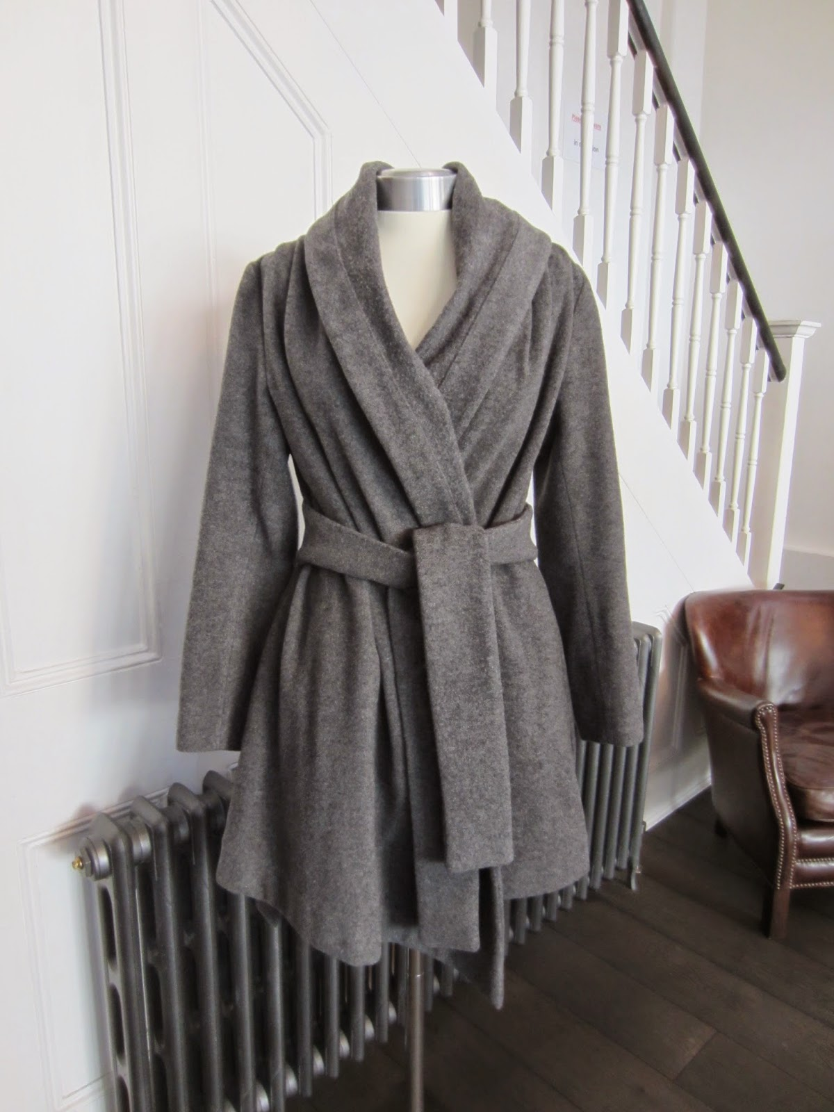 Vivienne Westwood Grey Coat with Belt