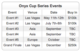 Onyx Cup Series schedule