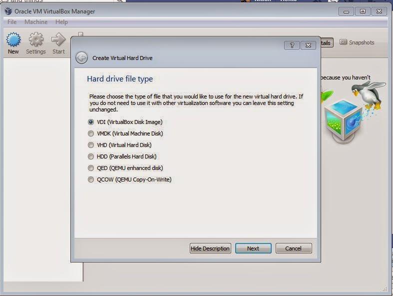 Oracle VM Workstation