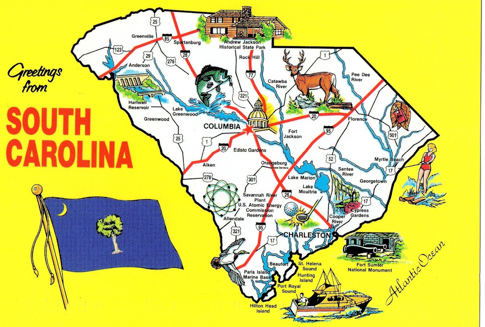 The World In Our Mailbox South Carolina Map Cards