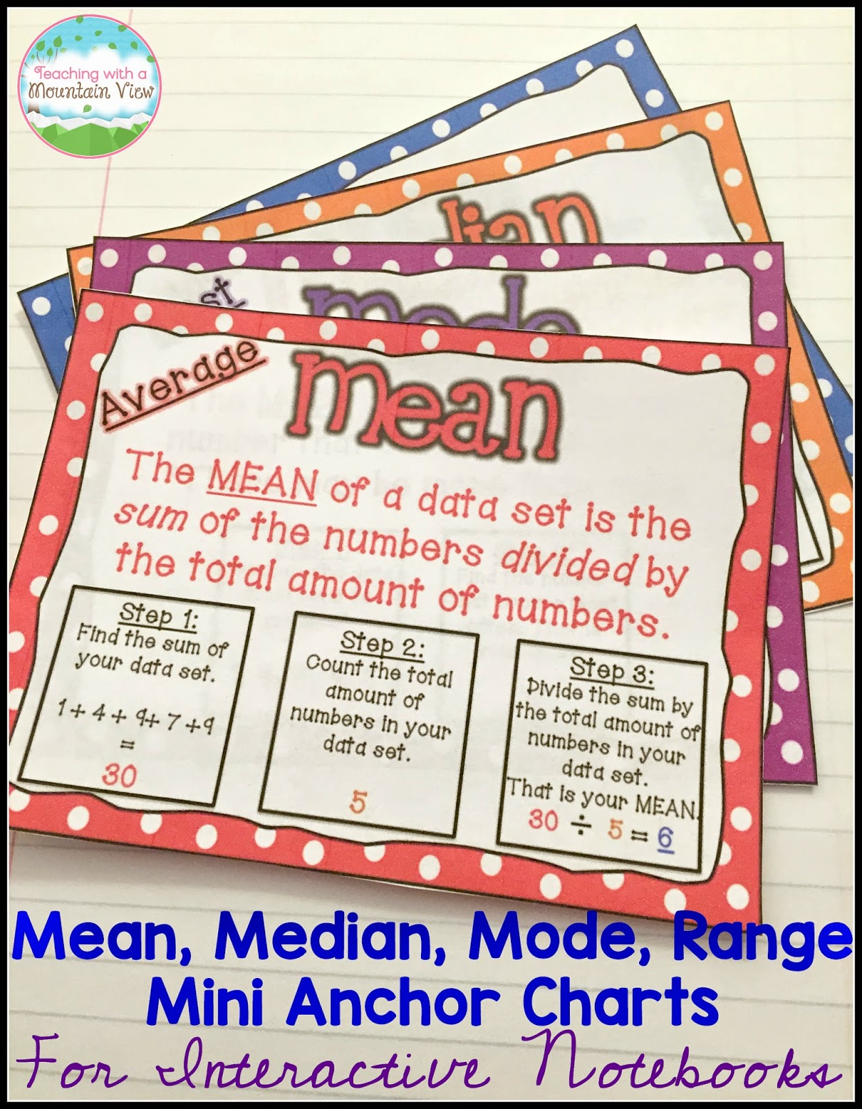 Median, Mode, And Range Anchor Charts That Are In My Bundle There Is  Something