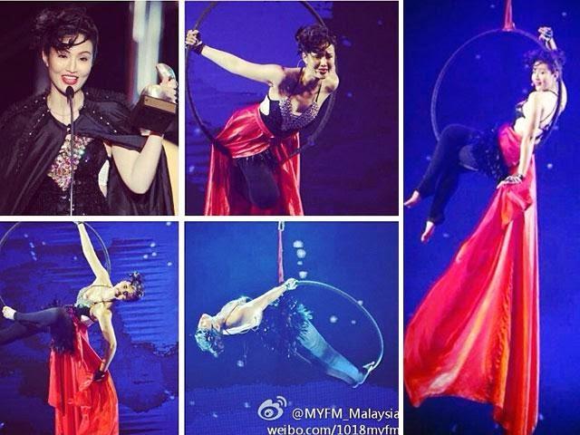 Wow! Soo Wincci Menyanyi Sambil Bergayut Atas Udara