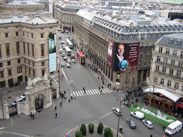 Вид с террасы Галери Лафайетт