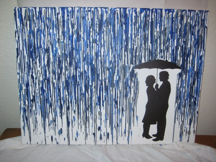 ... On Melted Crayon Art. My Favorite Is This One In The Rain. My  Silhouette Will Come In Handy For Sure (have You Entered To Win The  Silhouette Cameo Yet??
