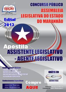 Apostila Alema (MA) Cargo de Assistente Legislativo - Agente Legislativo (2013)