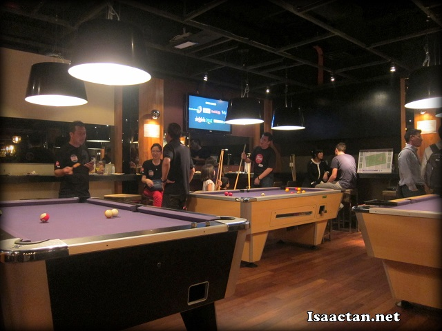 The view from where I was seated, it was at the back though, where the pool tables were at