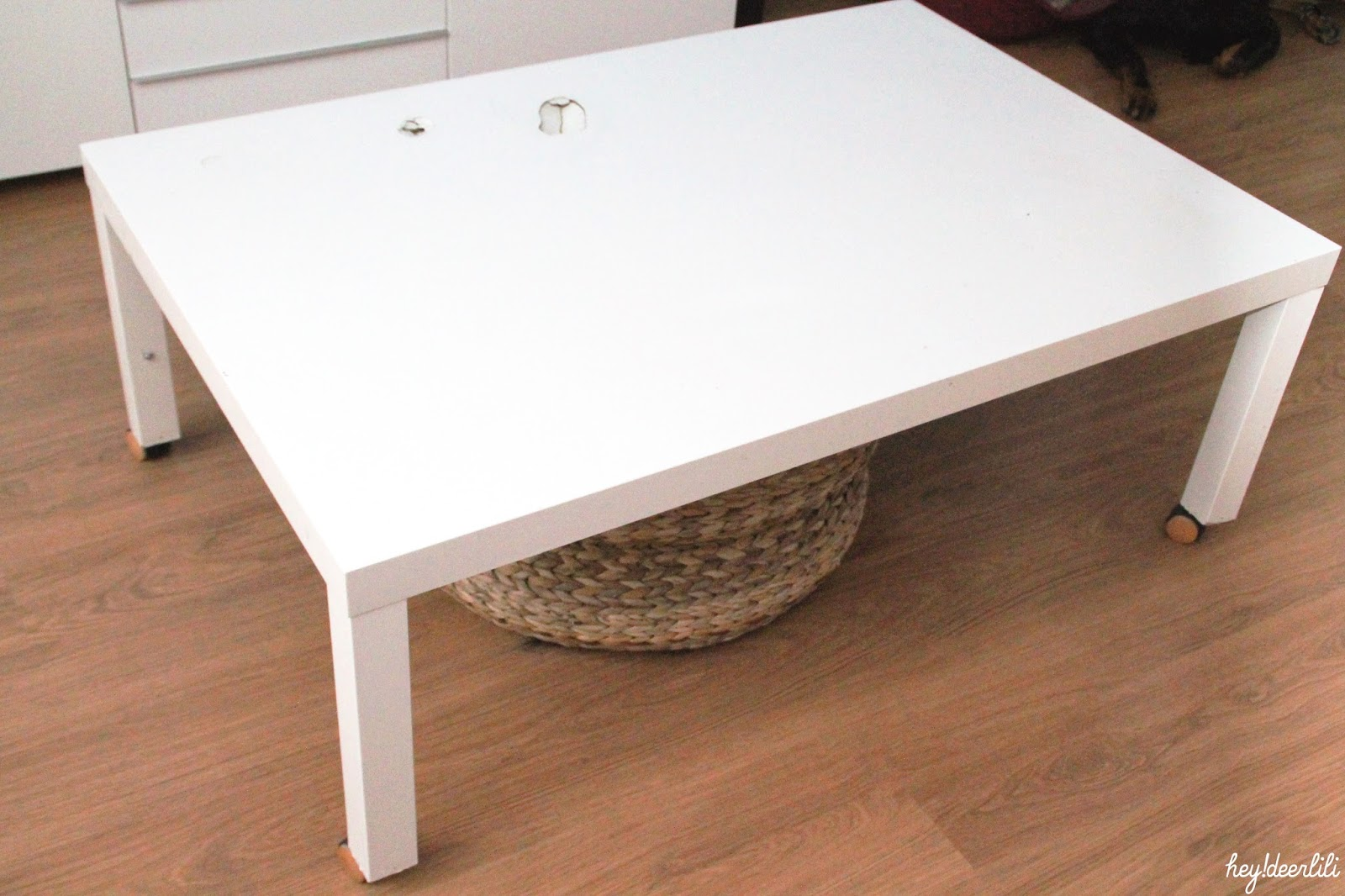 Hey deer lili retaper un basique la table basse ikea - Ikea table basse blanche ...