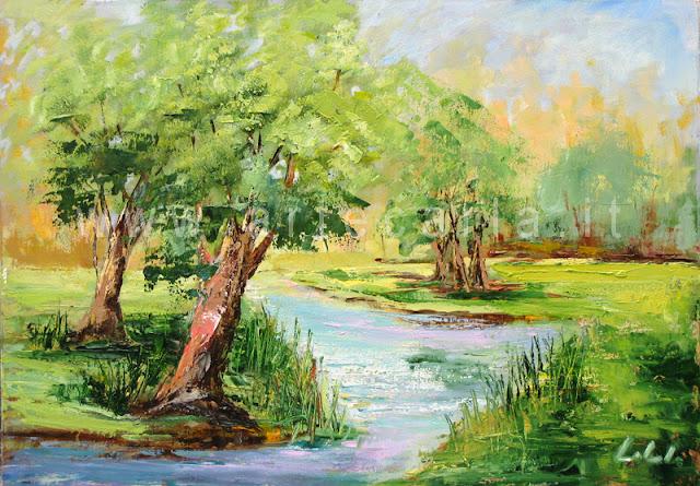 Artecarlacolombo si parte con una serie di nuovi dipinti for Paesaggi facili da disegnare