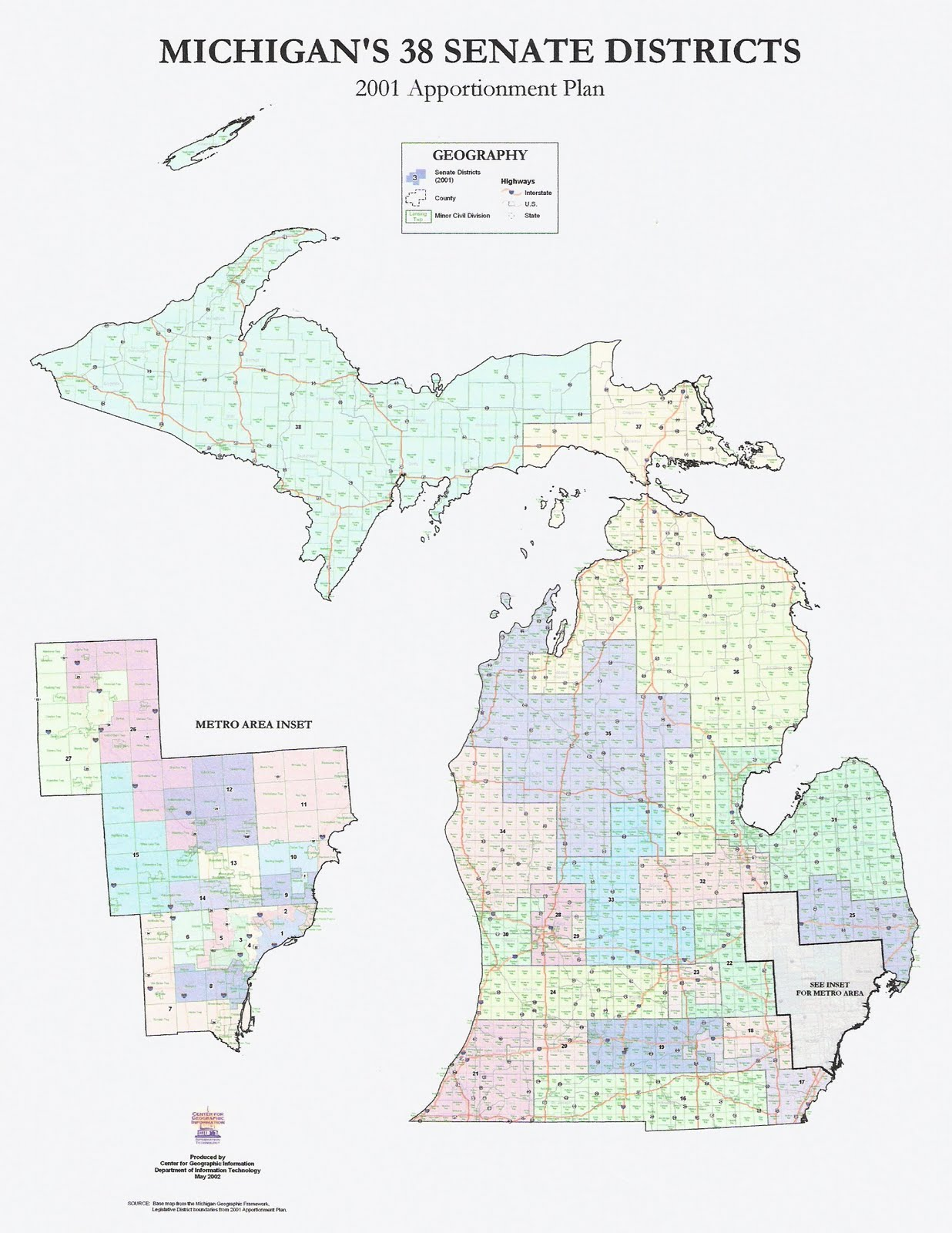 The Western Right Michigan Redistricting Official Republican State Senate Map Released