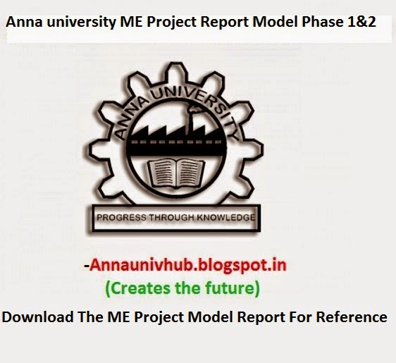 CP7311 Project Work Phase I And Phase II Model Report | ANNA ...