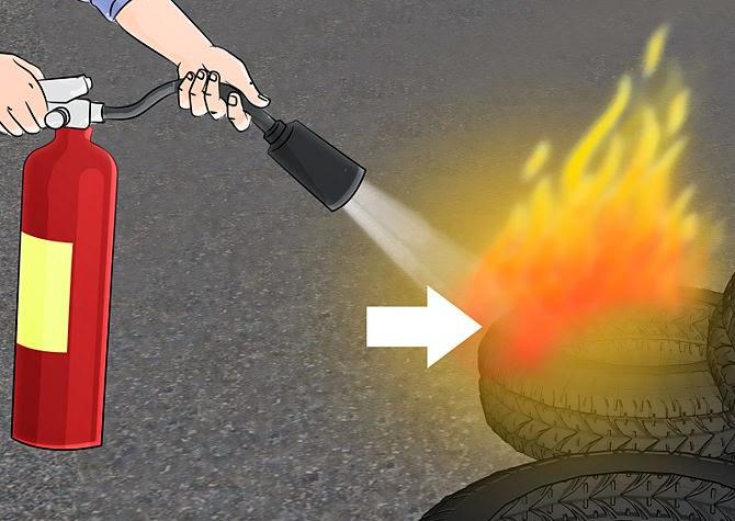 Làm thế nào để sử dụng bình chữa cháy 6