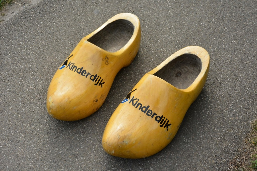 Windmill Kinderdijk Holland wooden shoes