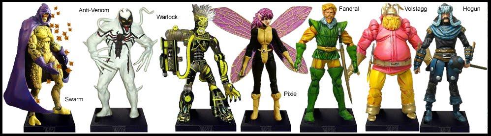 <b>Wave 9</b>: Swarm, Anti-Venom, Warlock, Pixie and The Warriors Three (Fandral, Volstagg &amp; Hogun)