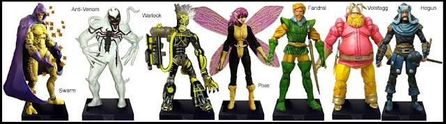<b>Wave 9</b>: Swarm, Anti-Venom, Warlock, Pixie and The Warriors Three (Fandral, Volstagg & Hogun)