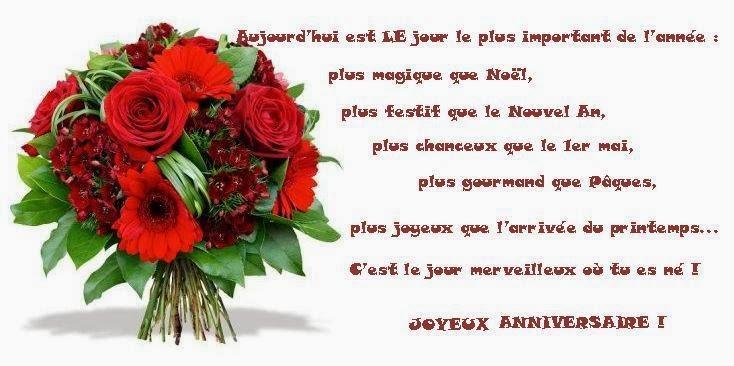 Carte Anniversaire Theme Fleur Texte Message Et Poeme D Anniversaire