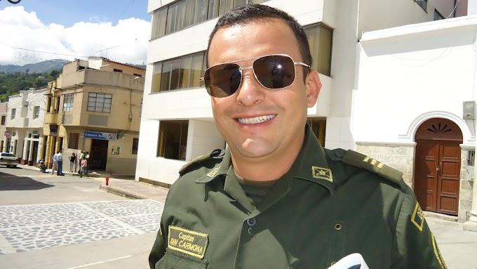"""Capitán John Carmona Arias, nuevo comandante del IV Distrito de Policía: Tras los hechos acaecidos en Málaga, """"no vamos a bajar la guardia""""."""