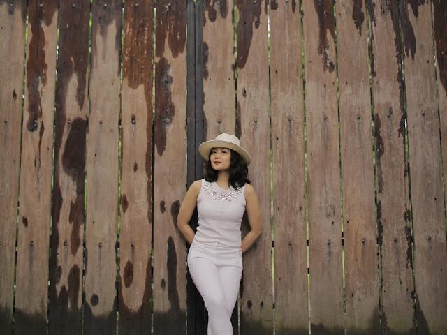 head to toe white, lipa batangas, river island hat