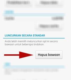 Cara Mengembalikan Default Open Aplikasi Android