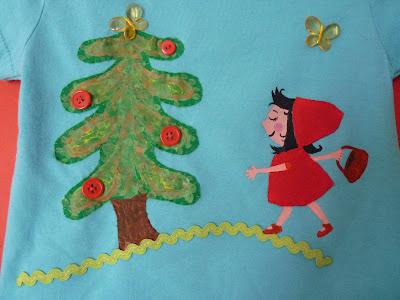 camiseta caperusita roja