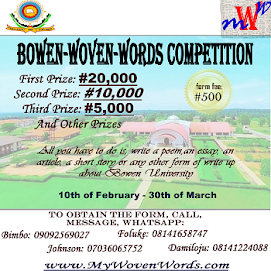 BOWEN WOVEN WORDS COMPETITION