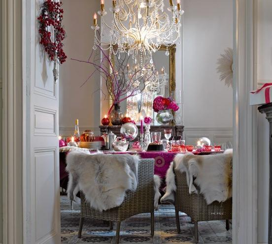 interiors boho bright christmas