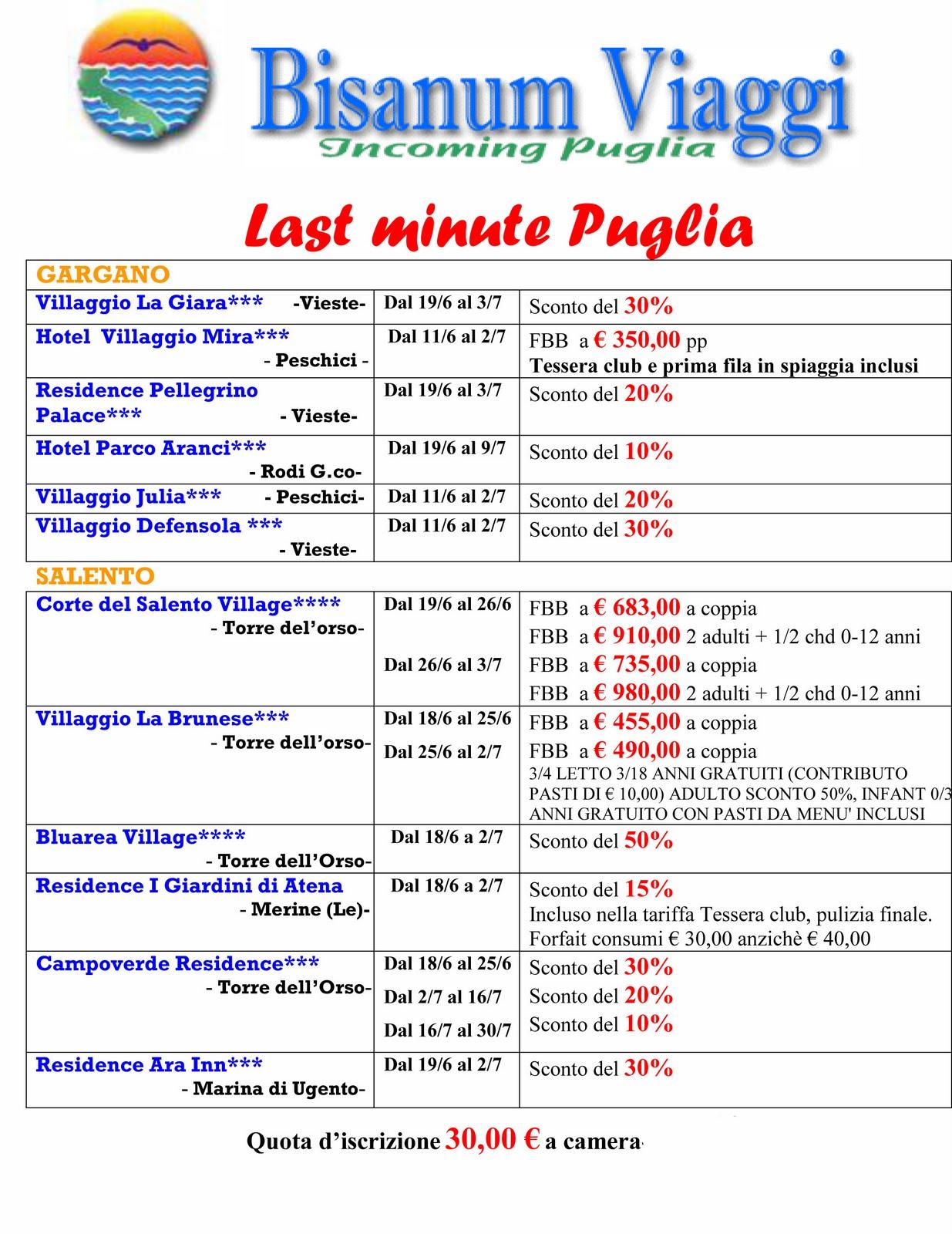 Last minute deals puglia