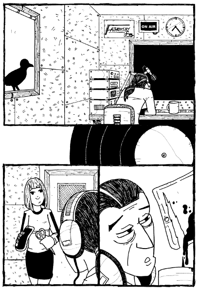 Here's one of my pages for Rol Hirst's new comic Too Much Sex and Violence, ...