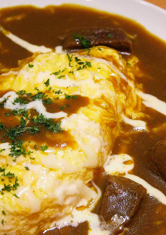 eri curry beef omelette curry