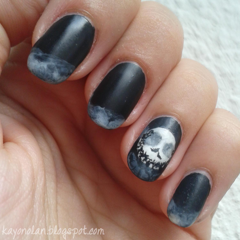 Nightmare before Christmas inspired Halloween nails