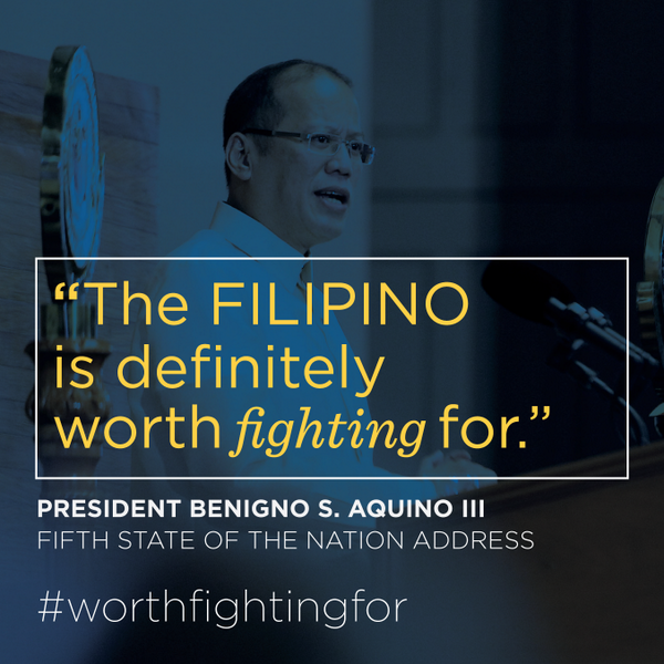 PNoy becomes emotional on his 5th SONA, says Filipino is worth fighting for