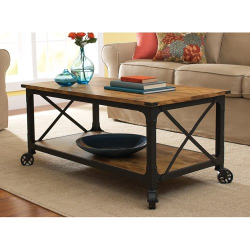 Budget Friendly Industrial Warehouse Coffee Table On Caster Wheels Finding Great Ideas For Less